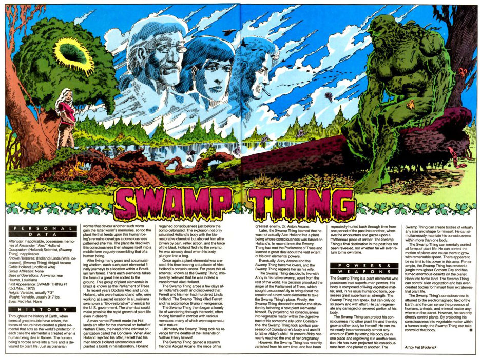 Who's Who 1989 Annual Swamp Thing Annual #5 - Swamp Thing by Pat Broderick