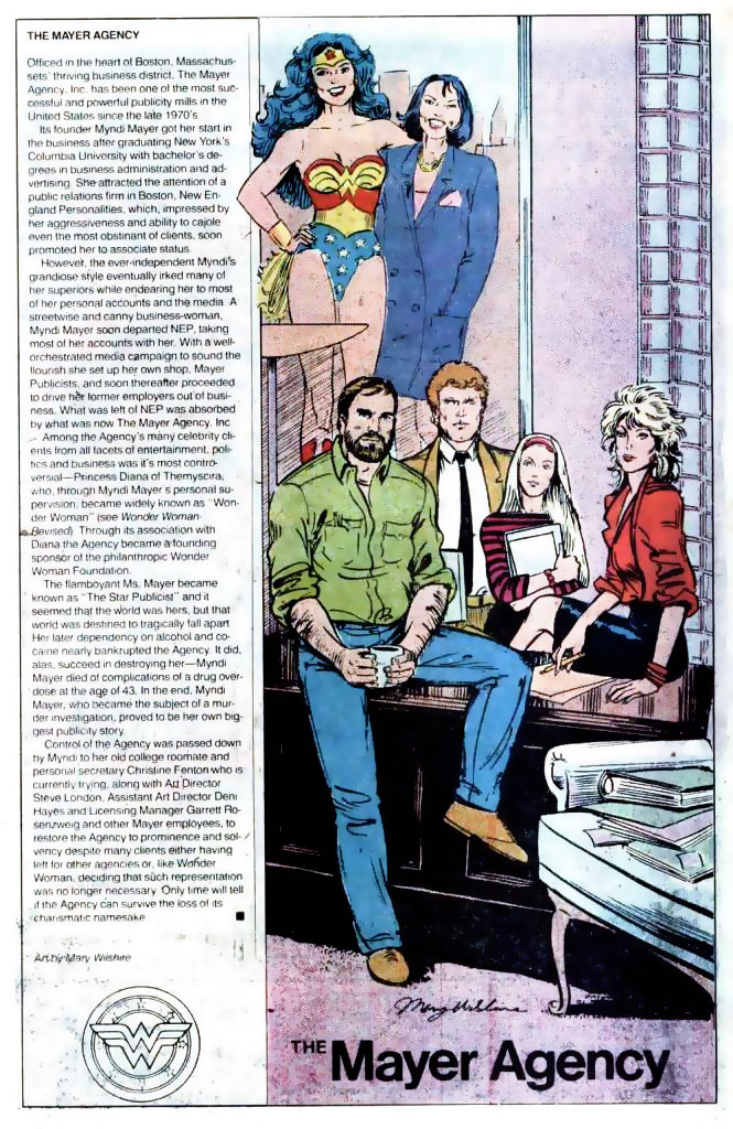Who's Who 1989 Annual Wonder Woman Annual #2 - The Mayer Agency by Mary Wilshire