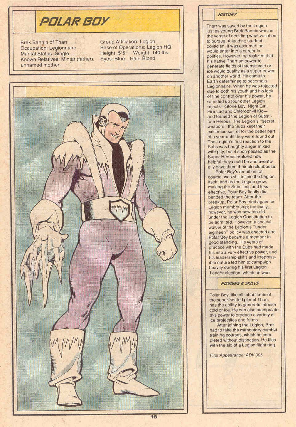 Polar Boy by Ty Templeton - Who's Who in the Legion of Super-Heroes #5