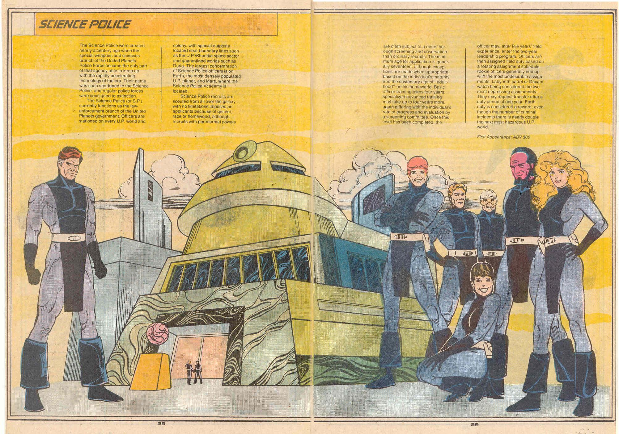Science Police by Colleen Doran - Who's Who in the Legion of Super-Heroes #5