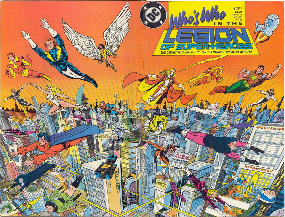 Who's Who in the Legion of Super-Heroes #6 cover by Jim Valentino and George Perez