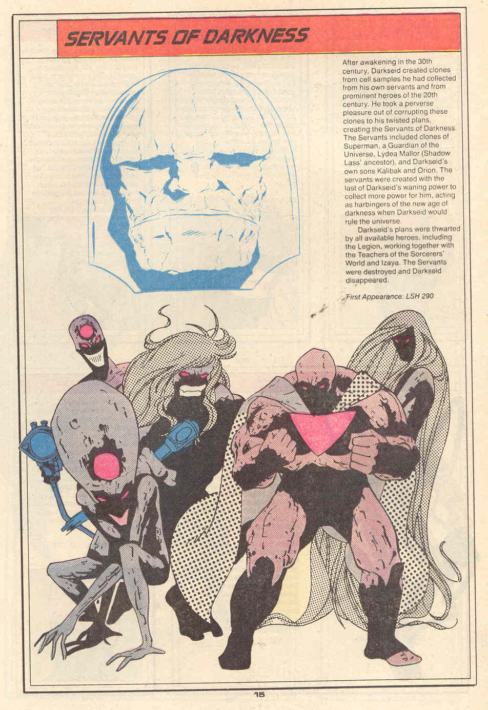 Servants of Darkness by Keith Giffen and Bob Smith - Who's Who in the Legion of Super-Heroes #6