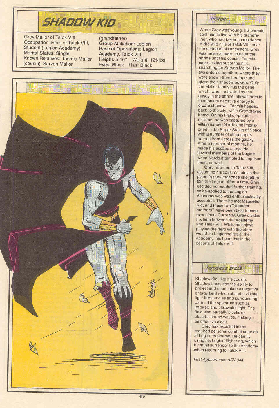 Shadow Kid by Chris Wozniak - Who's Who in the Legion of Super-Heroes #6
