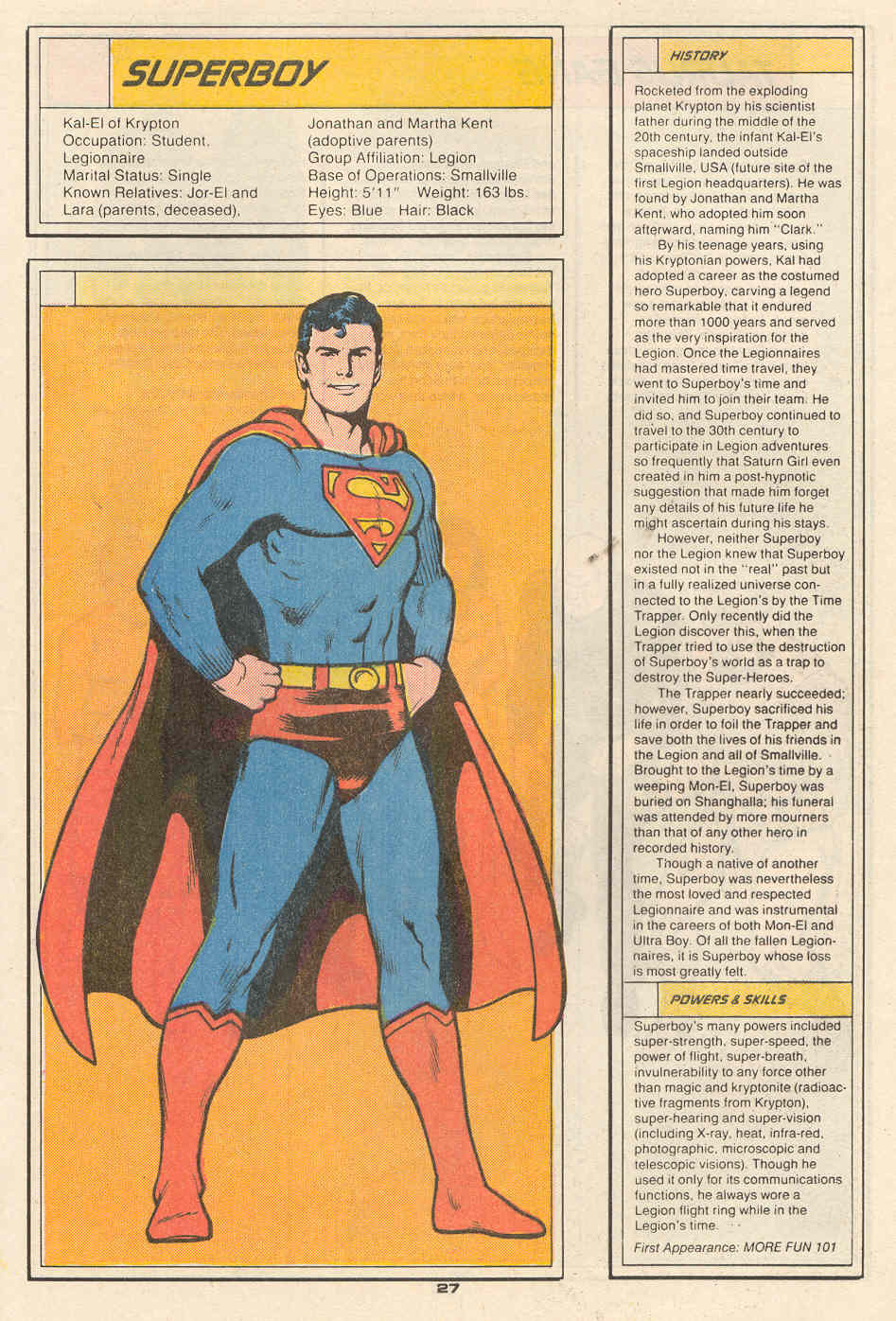 Superboy by Curt Swan and Ty Templeton - Who's Who in the Legion of Super-Heroes #6