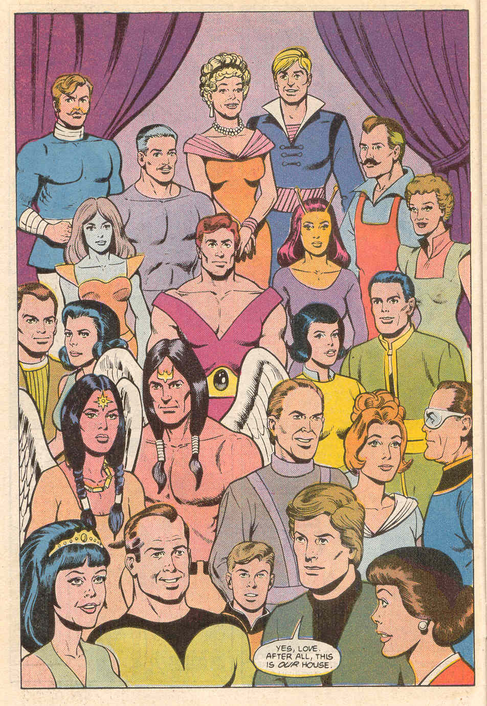 Who's Who in the Legion of Super-Heroes #7 - Legion family portrait by Curt Swan and Kurt Schaffenberger
