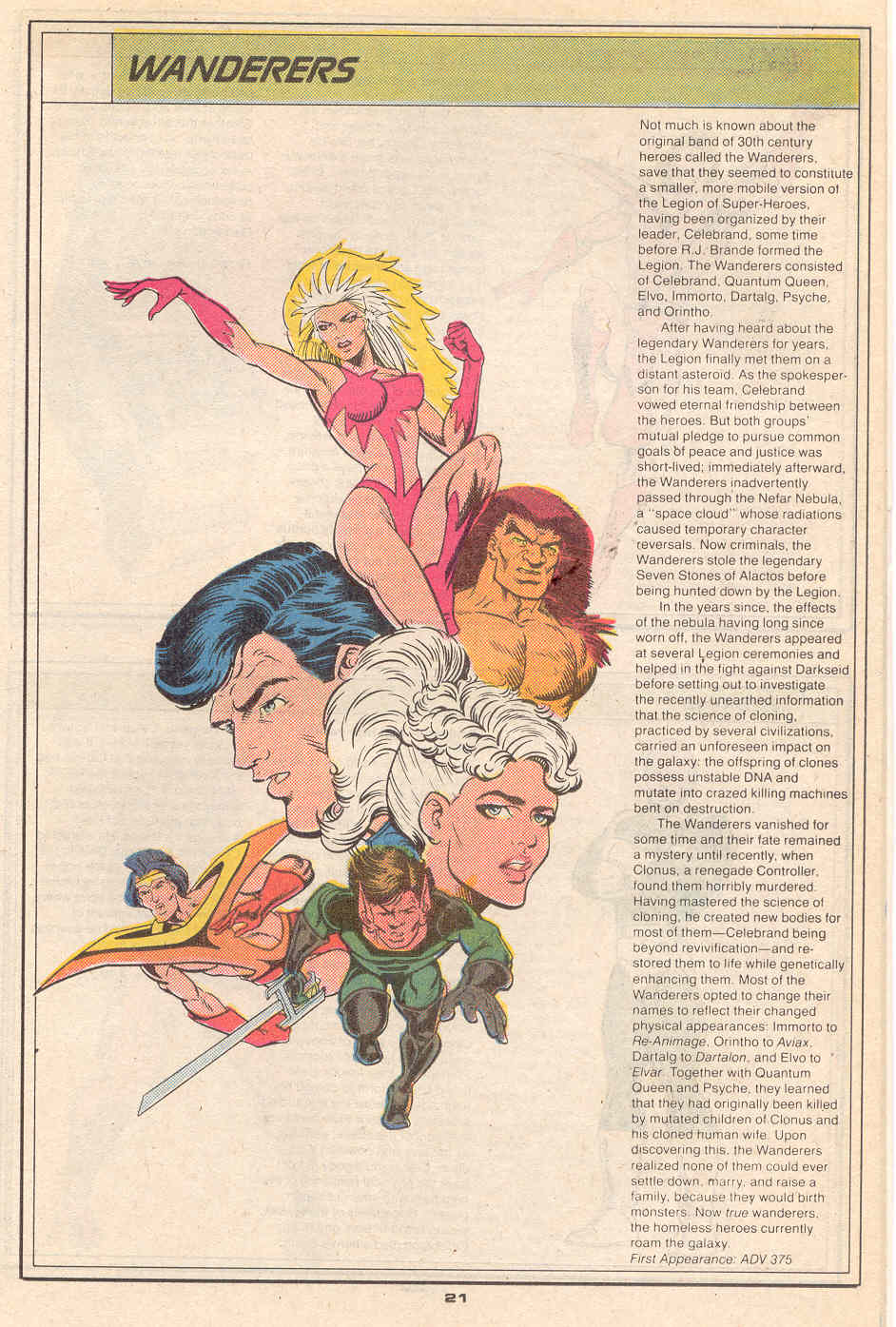 The Wanderers by Dave Hoover and Robert Campanella - Who's Who in the Legion of Super-Heroes #7