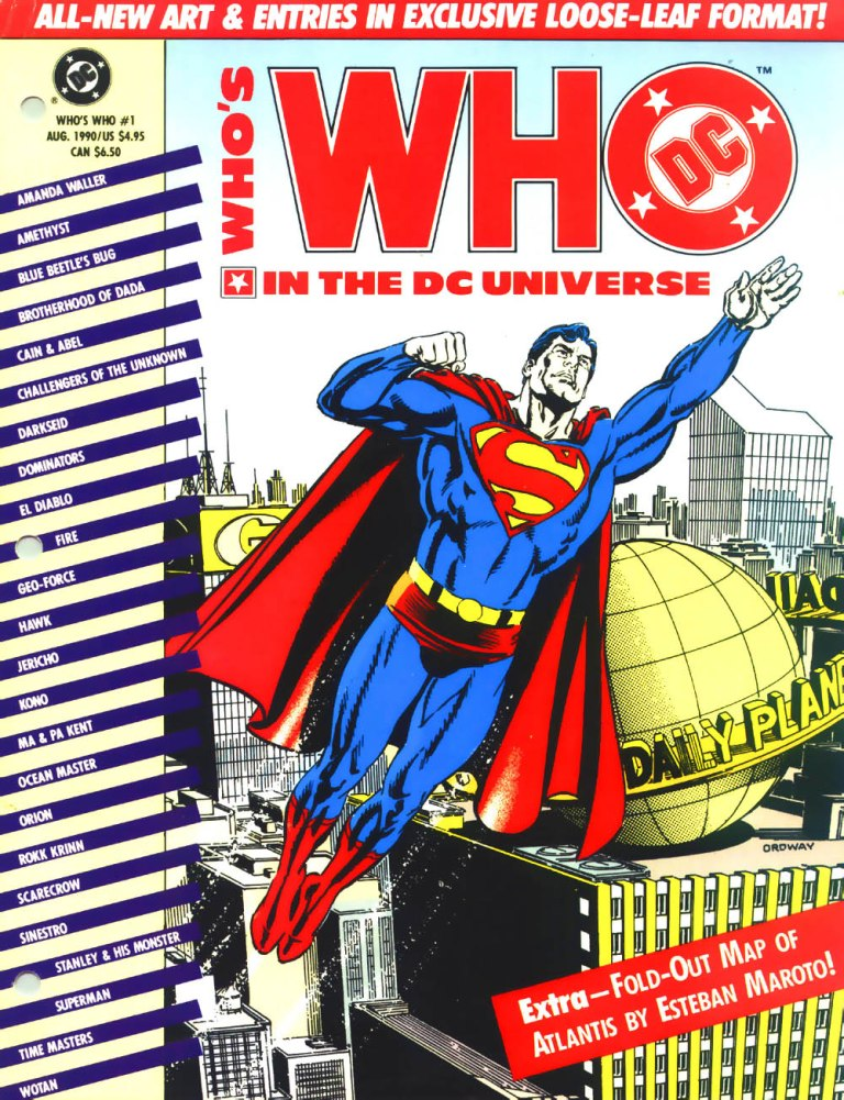 Who's Who in the DC Universe #1 cover by Jerry Ordway