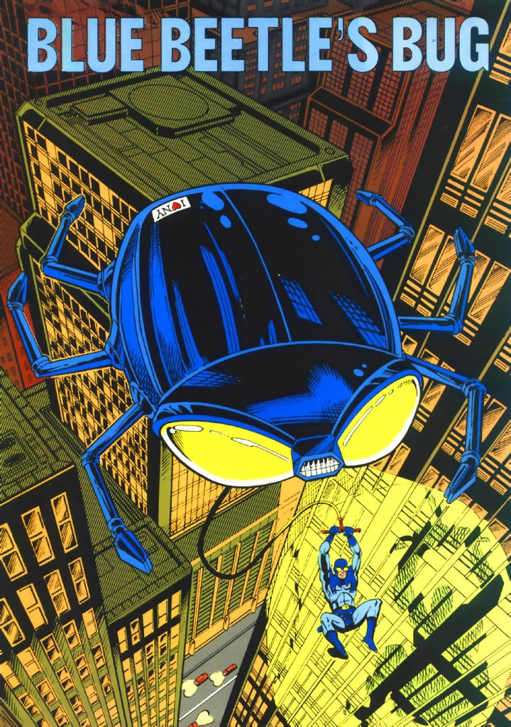 Who's Who in the DC Universe #1 -Blue Beetle's Bug - text by Kevin Dooley, with art by Grant Miehm and Arne Starr
