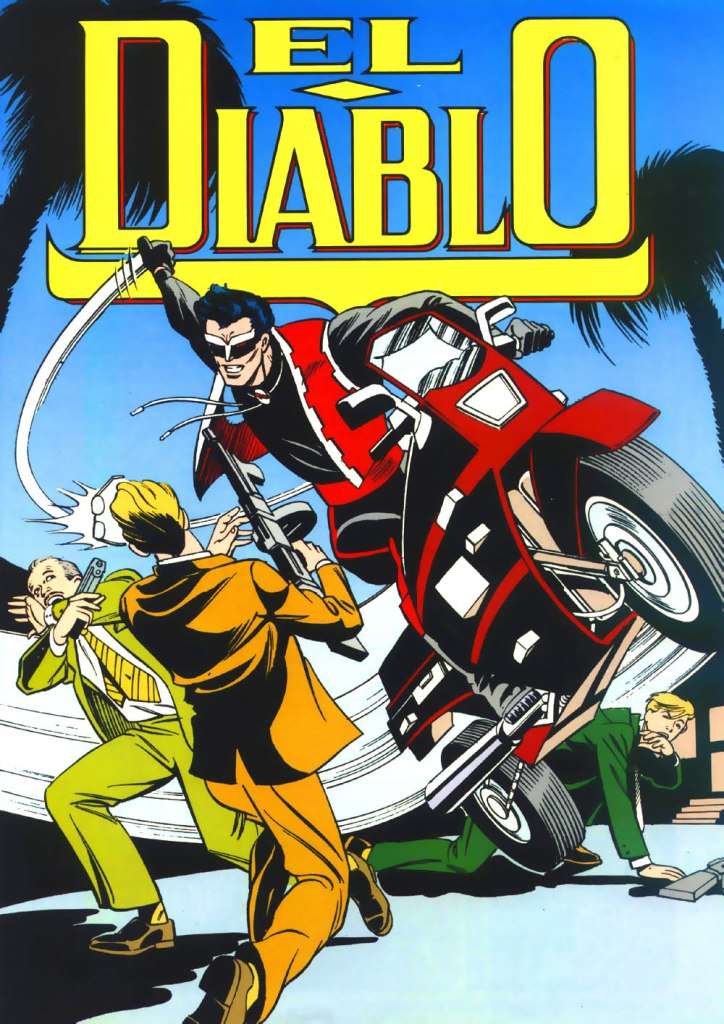 Who's Who in the DC Universe #1 - El Diablo - art by Mike Parobeck and John Nyberg