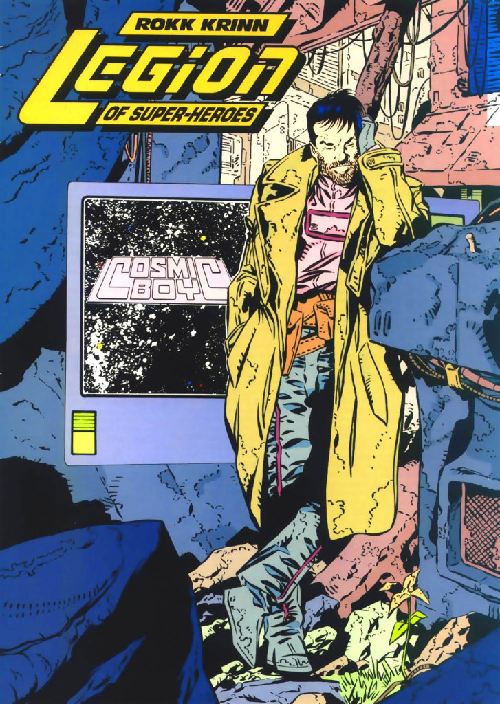 Who's Who in the DC Universe #1 - Rokk Krinn (Cosmic Boy) - art by Keith Giffen and Al Gordon
