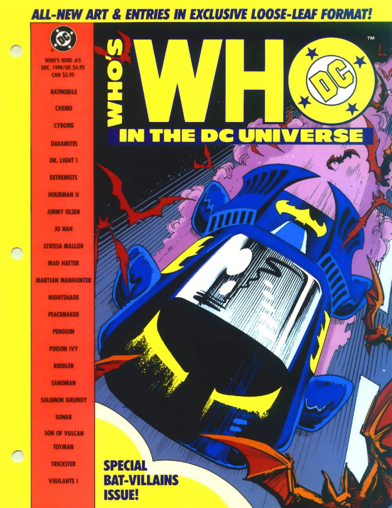 Who's Who in the DC Universe #5 cover featuring the Batmobile by Norm Breyfogle!