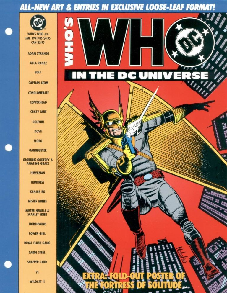 Who's Who in the DC Universe #6 cover featuring Hawkman by Graham Nolan