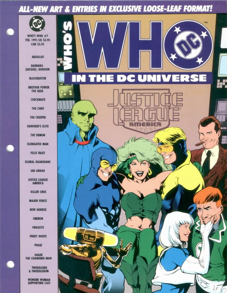 Who's Who in the DC Universe #7 cover featuring Justice League America by Adam Hughes and Karl Story!