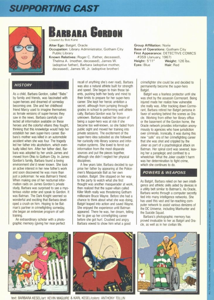Barbara Gordon by Barbara Kesel, Kevin Maguire and Karl Kesel