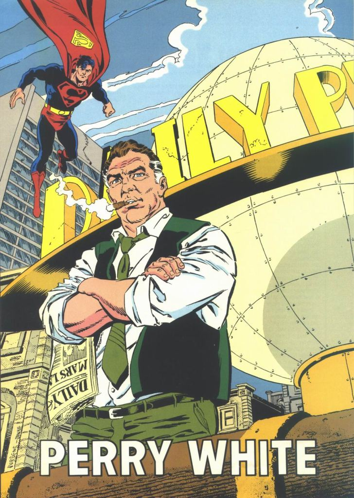 Perry White by Dan Jurgens and Dennis Janke