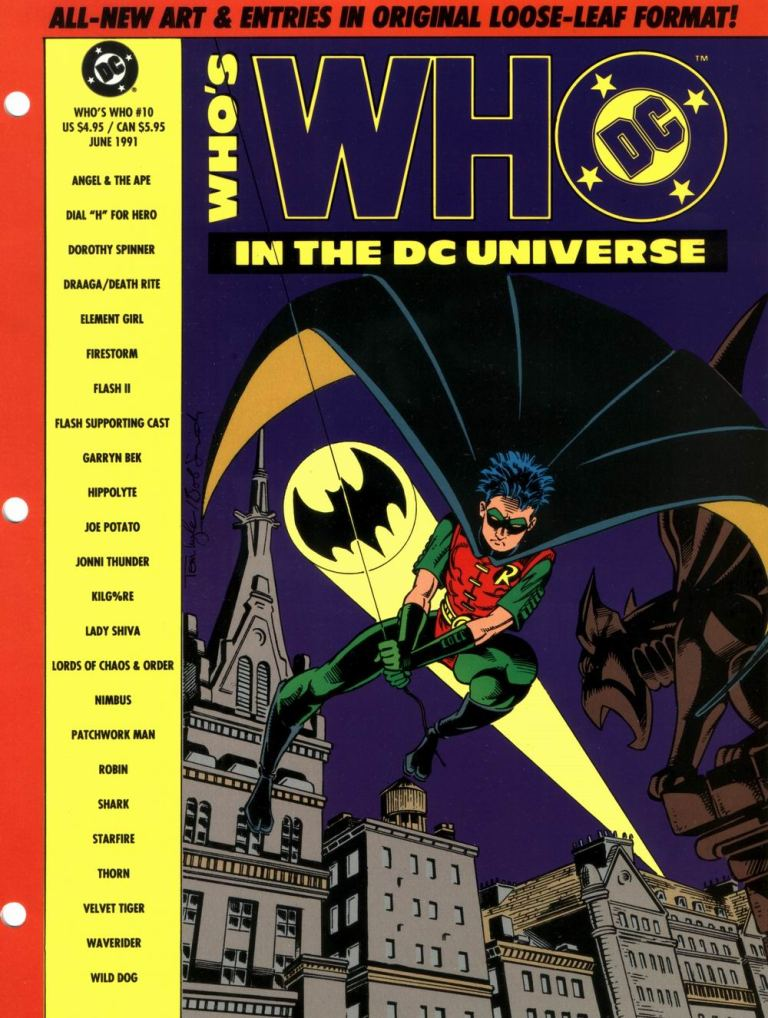Who's Who in the DC Universe #10 cover featuring Robin by Tom Lyle and Bob Smith
