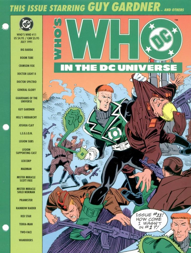 Who's Who in the DC Universe #11 cover featuring Guy Gardner by Joe Staton and Jose Marzan!