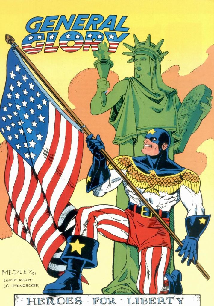 Who's Who in the DC Universe #11 - General Glory by Linda Medley (layout by J.C. Leyendecker)