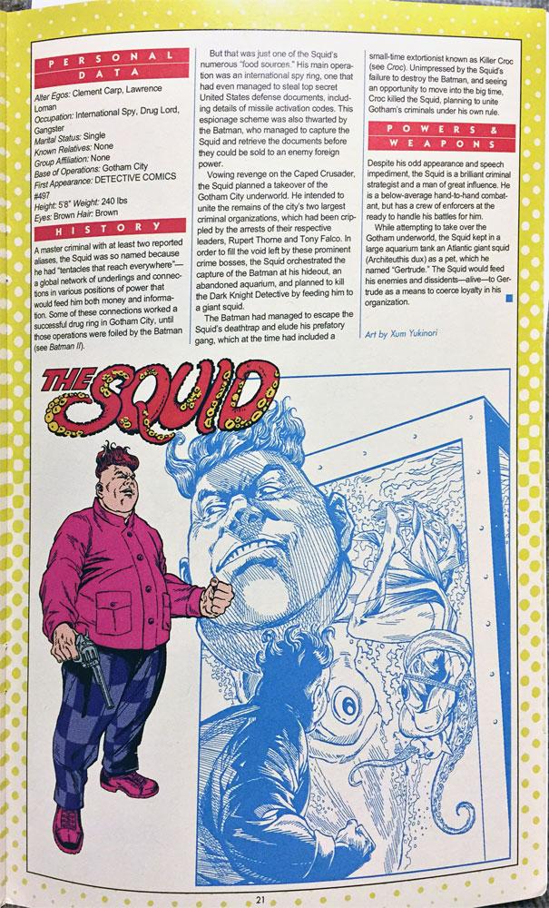 Xum Yukinori's Addendum to the Definitive Directory of the DC Universe - The Squid by Xum Yukinori