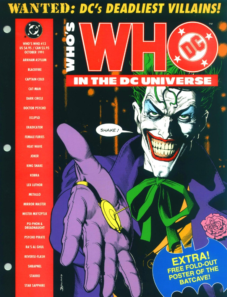 Who's Who in the DC Universe #13 cover featuring The Joker by Brian Bolland