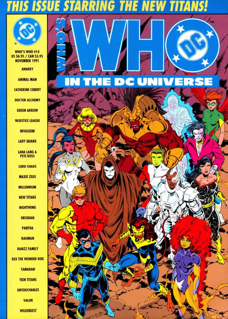 Who's Who in the DC Universe #14 cover featuring The New Titans by Tom Grummett and Al Vey!