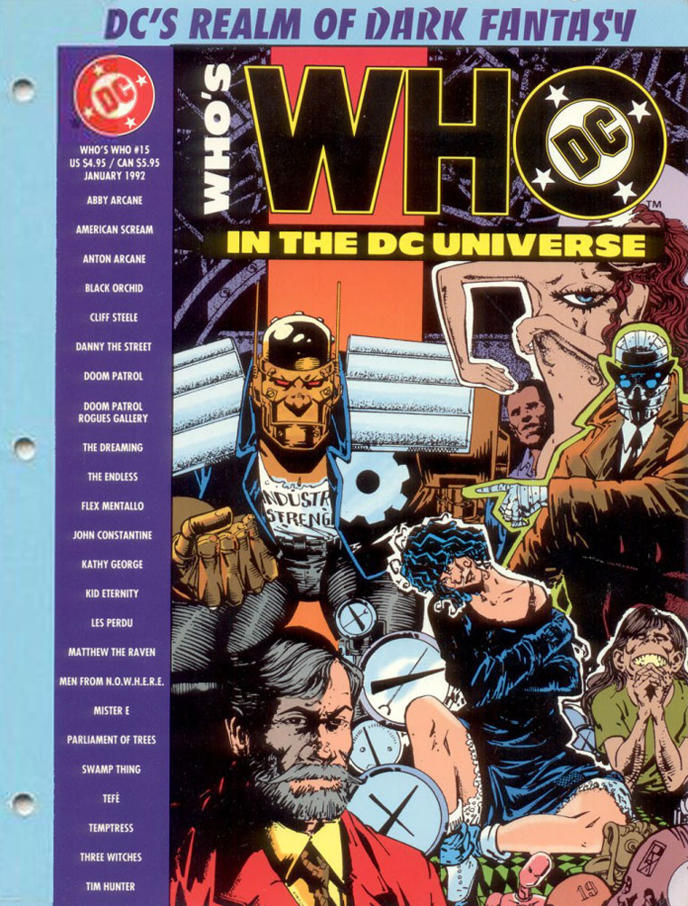 Who's Who in the DC Universe #15 cover featuring the Doom Patrol by Richard Case
