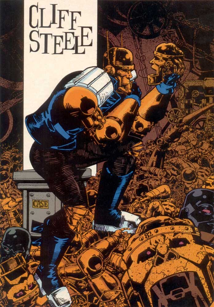 Who's Who in the DC Universe #15 - Cliff Steele by Richard Case