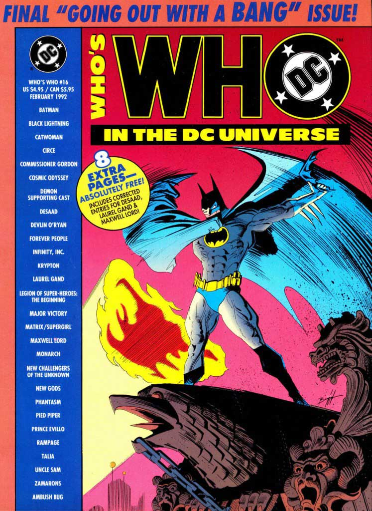 Who's Who in the DC Universe #16 cover featuring Batman by Norm Breyfogle