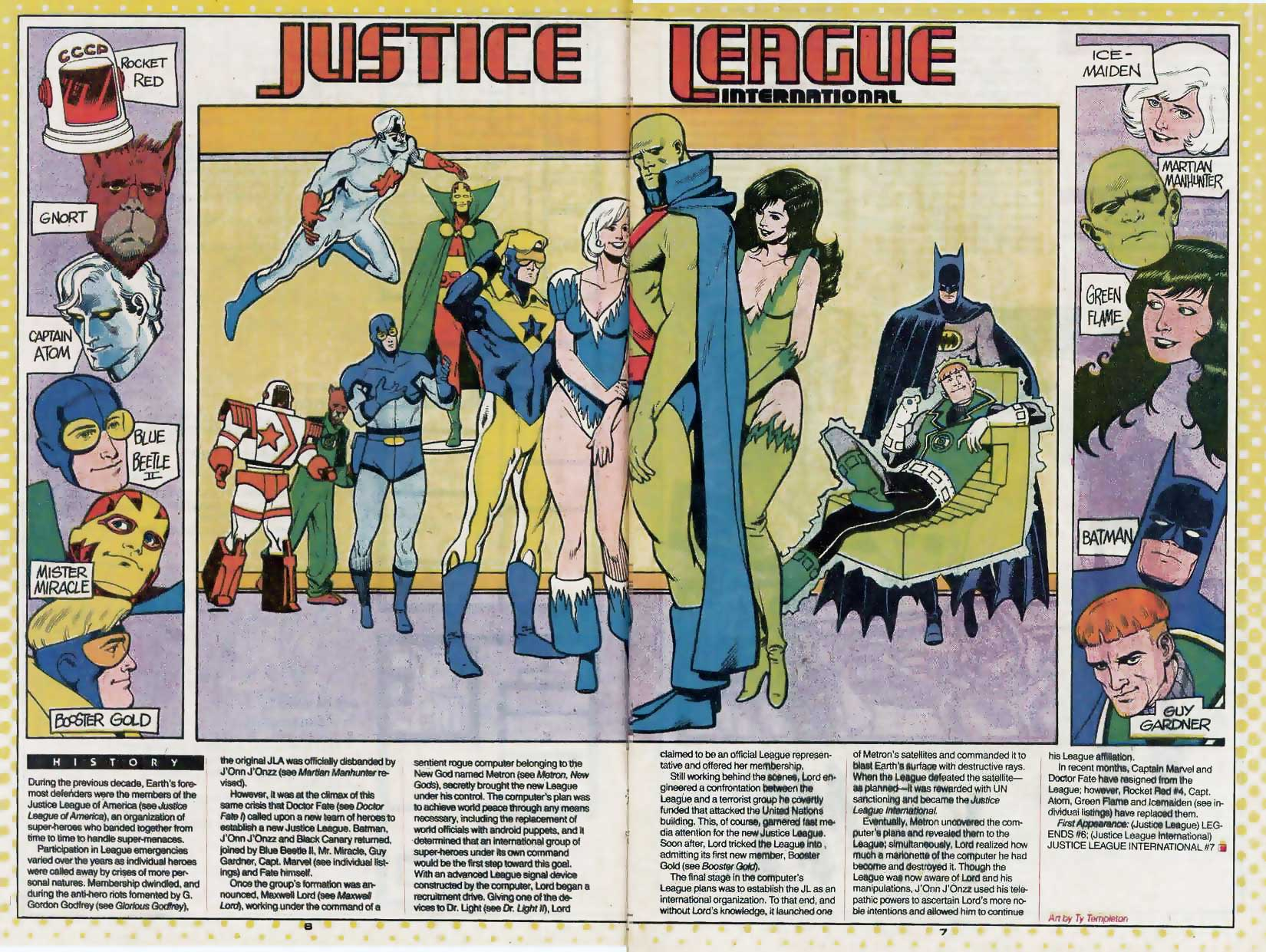 Who's Who Update 88 #2 Justice League International by Ty Templeton