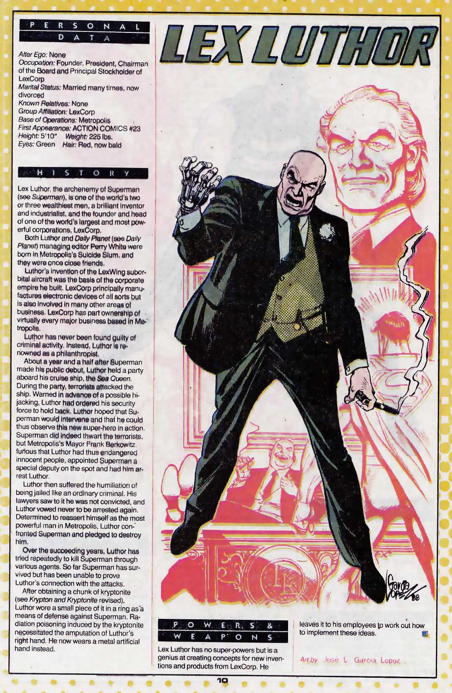 Who's Who Update 88 #2 Lex Luthor by Jose Luis Garcia Lopez (Praise Be His Name)