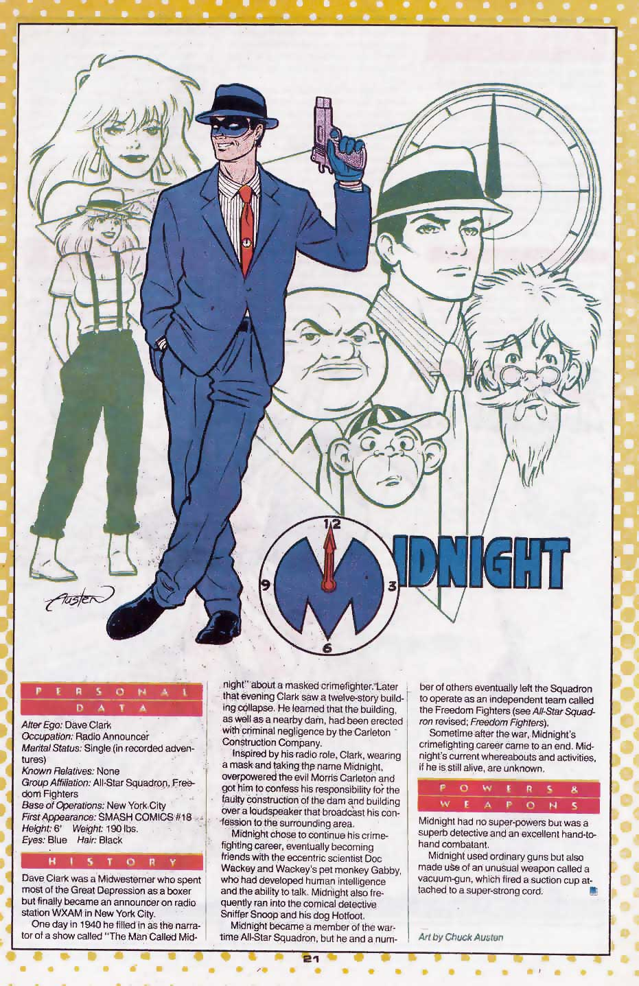 Who's Who Update 88 #2 Midnight by Chuck Austen