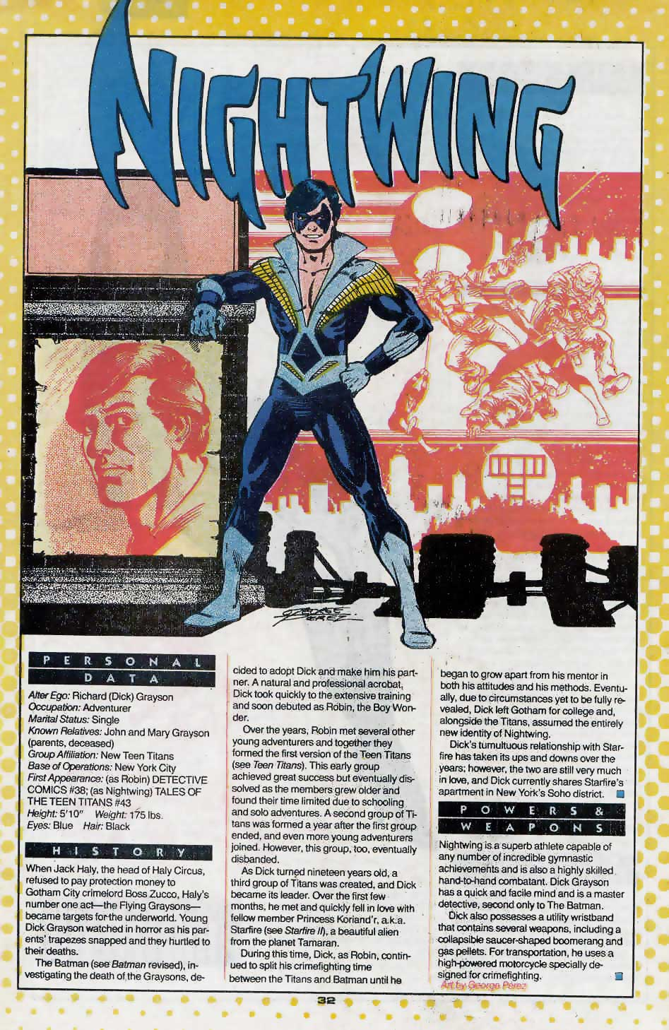 Who's Who Update 88 #2 Nightwing by George Perez