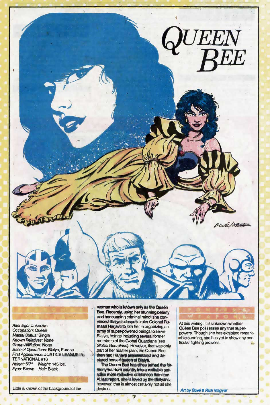 Who's Who Update 88 #3 Queen Bee by Bove and Rick Magyar
