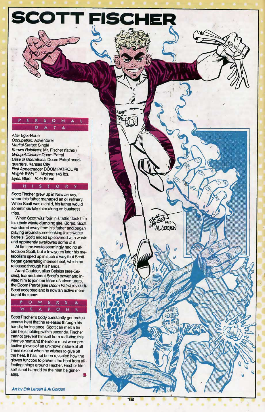Who's Who Update 88 #3 Scott Fischer by Erik Larsen and Al Gordon