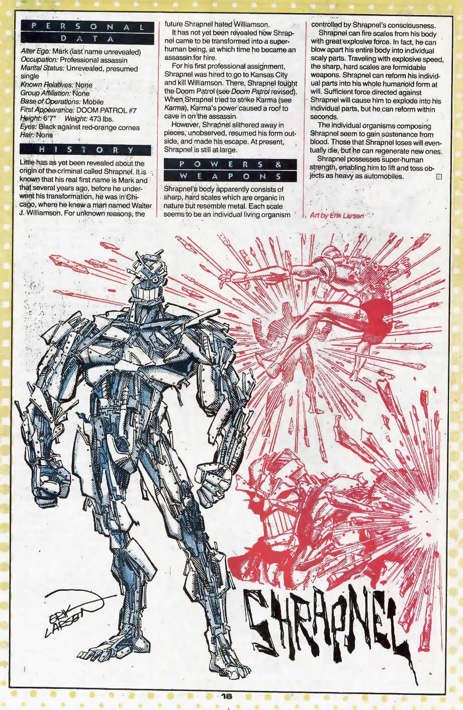 Who's Who Update 88 #3 Shrapnel by Erik Larsen