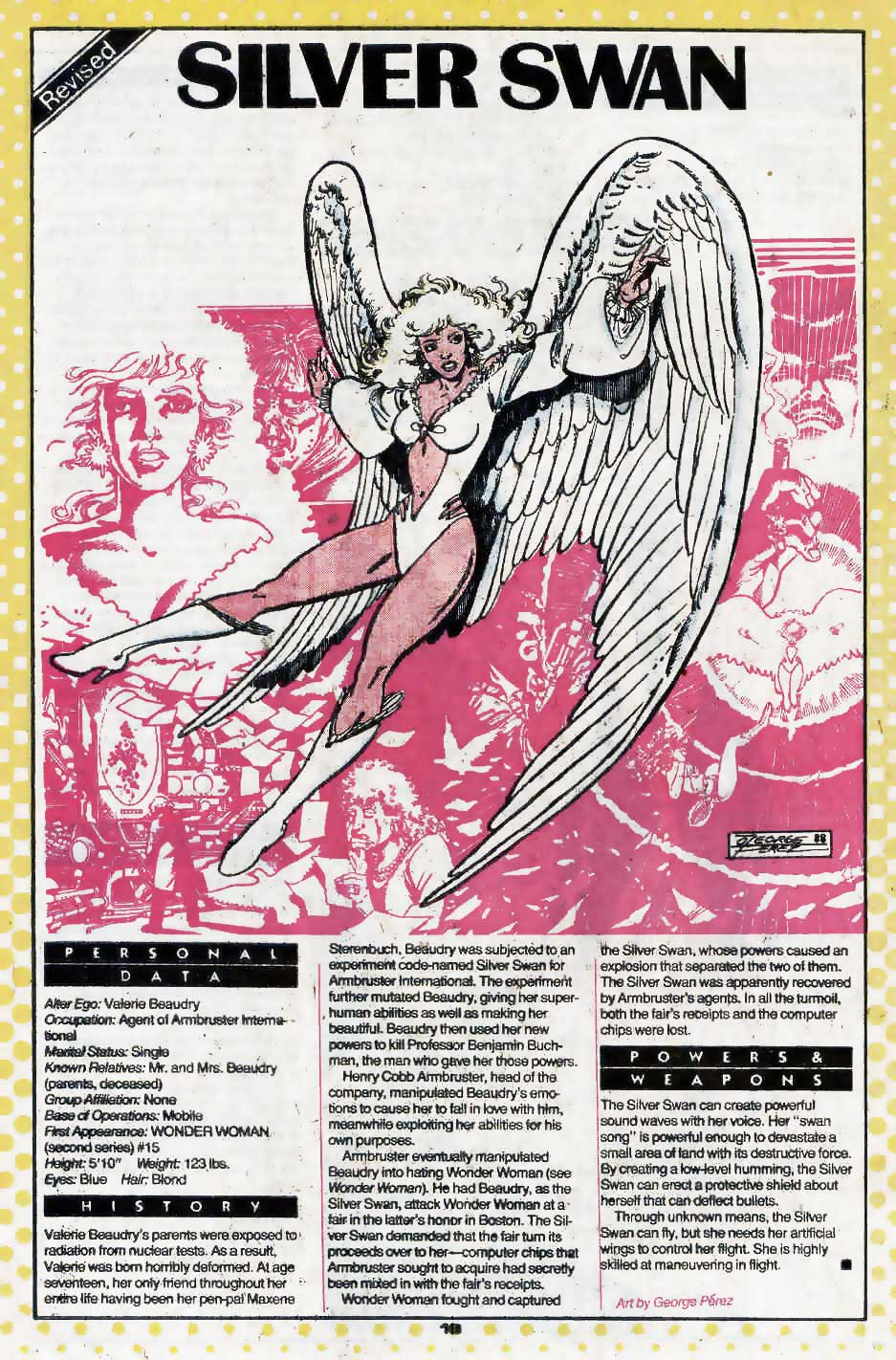 Who's Who Update 88 #3 Silver Swan by George Perez