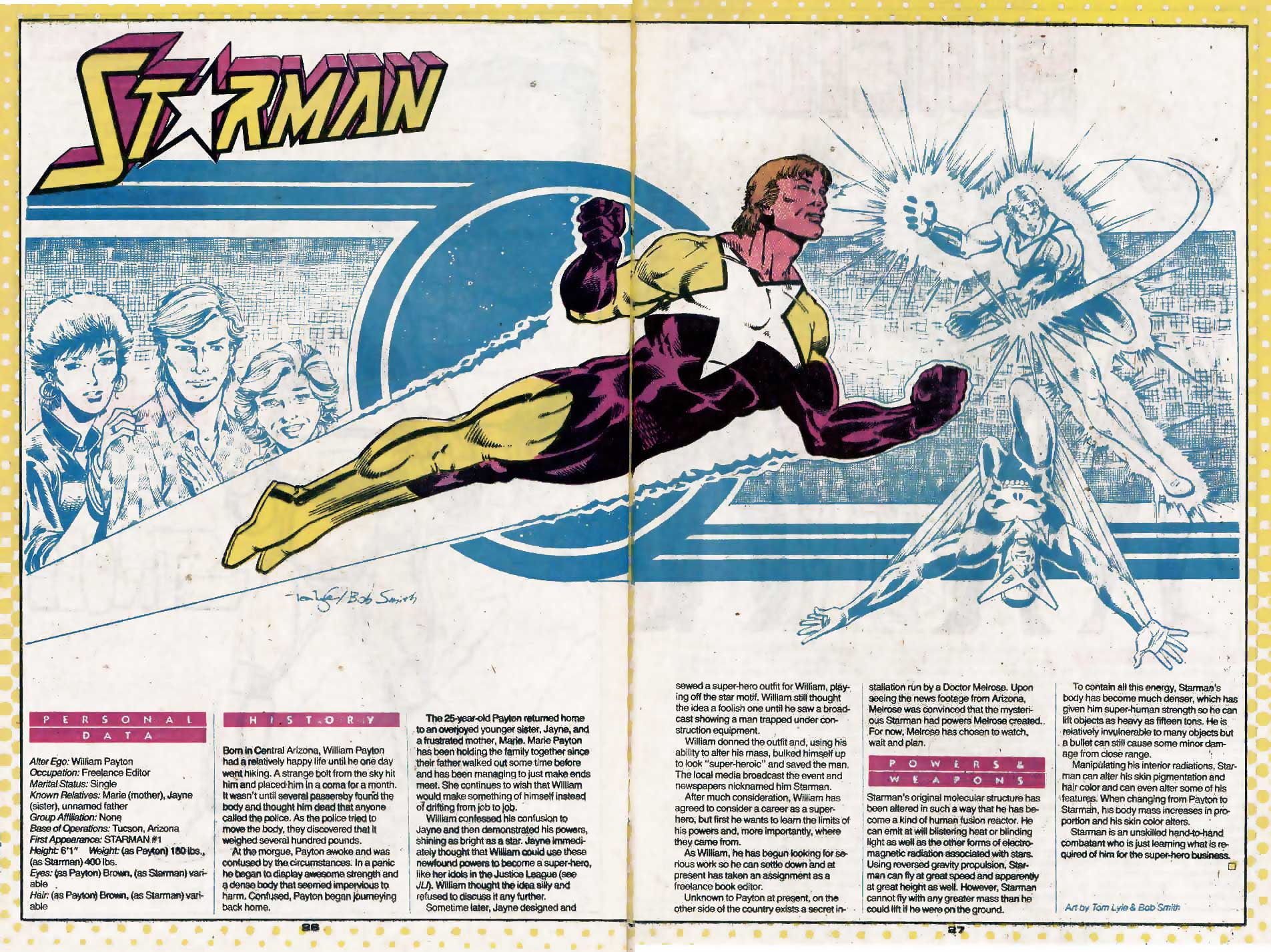 Who's Who Update 88 #3 Starman III by Tom Lyle and Bob Smith