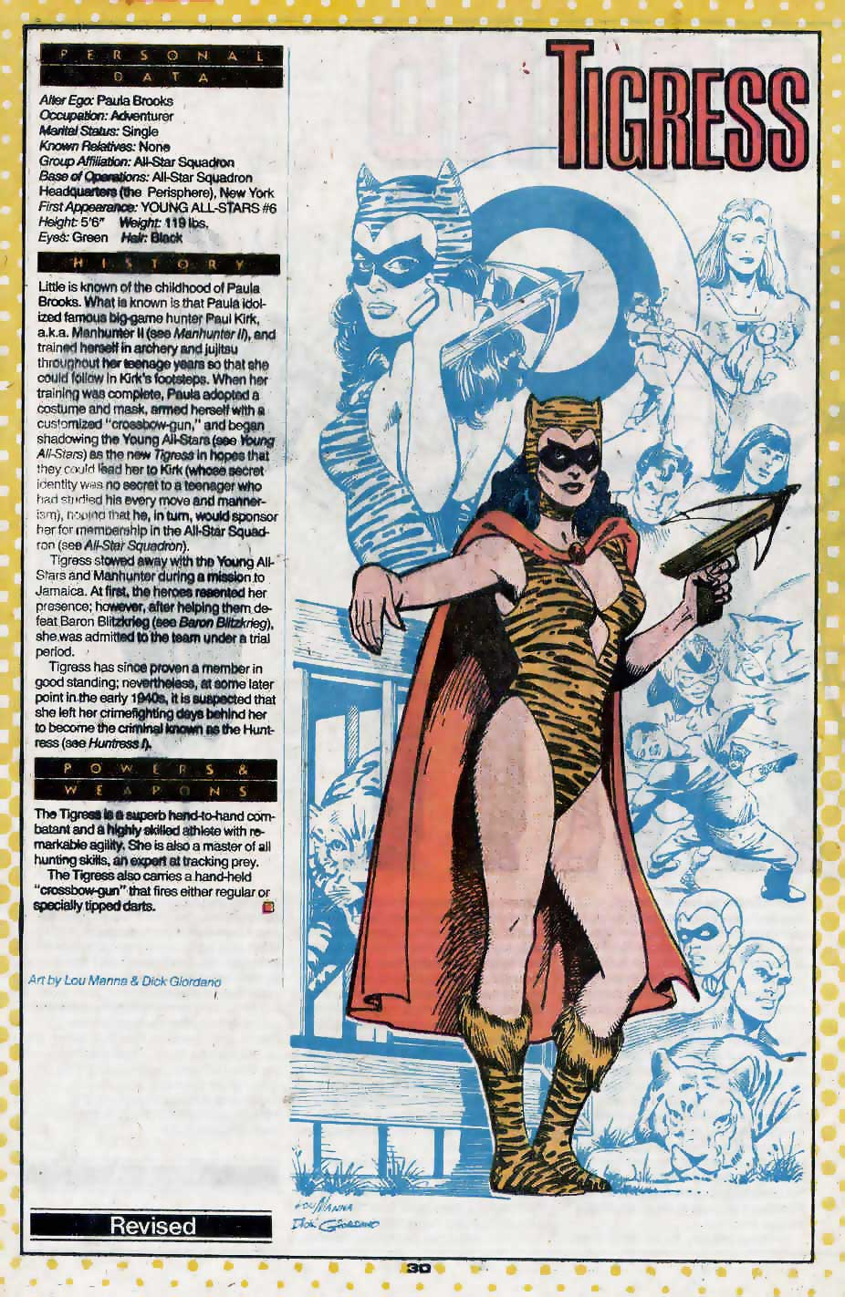 Who's Who Update 88 #3 Tigress by Lou Manna and Dick Giordano