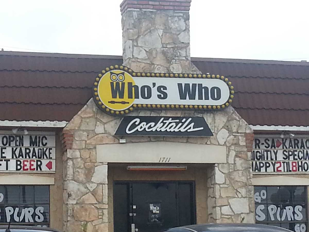 Who's Who Cocktails in San Antonio, TX