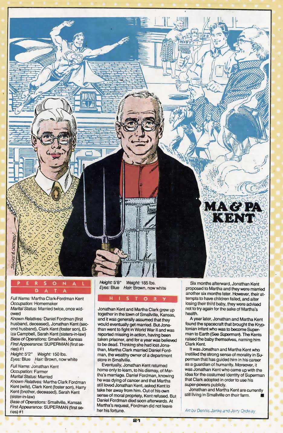 Ma and Pa Kent by Dennis Janke and Jerry Ordway