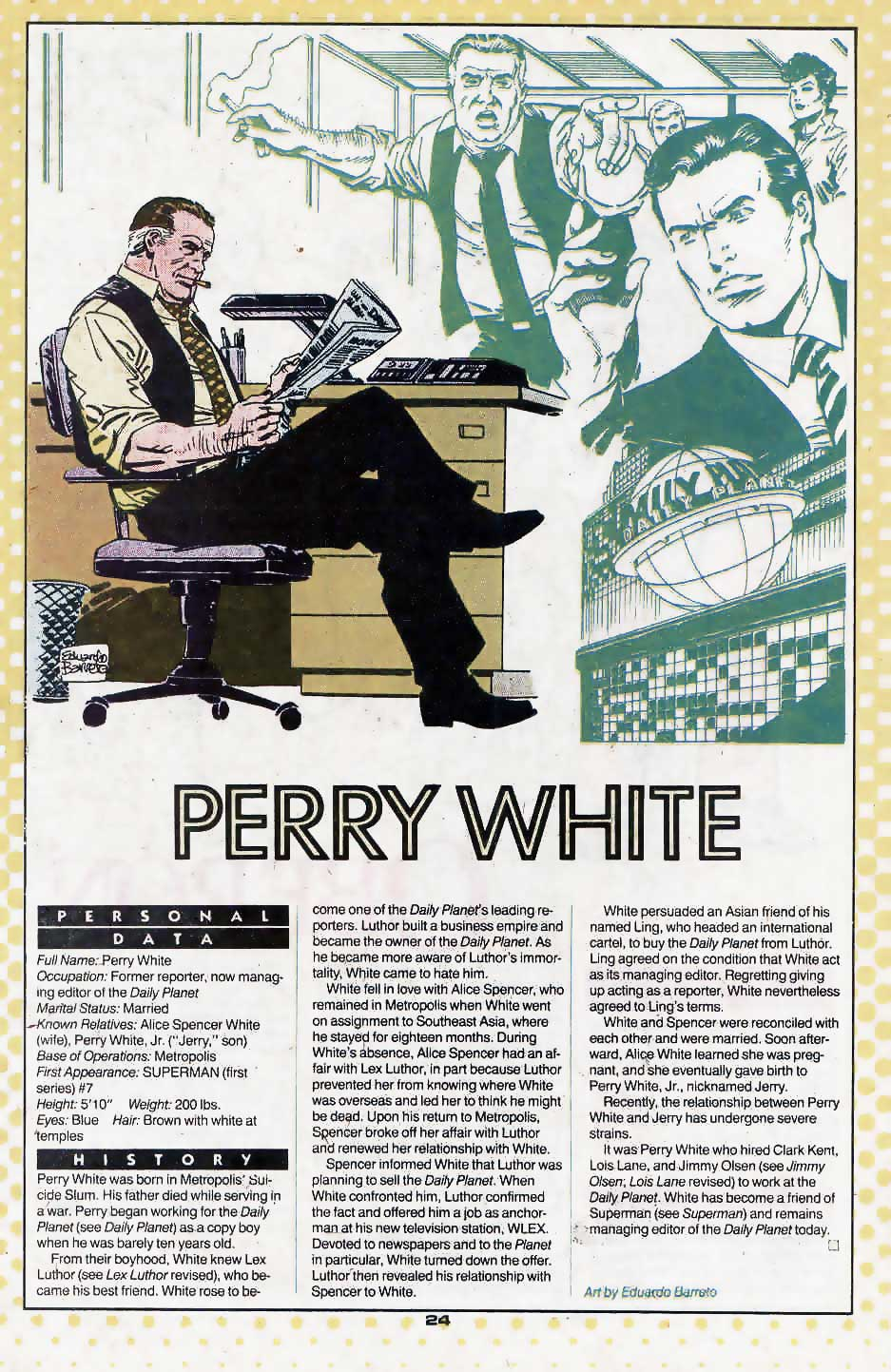 Perry White by Eduardo Barreto