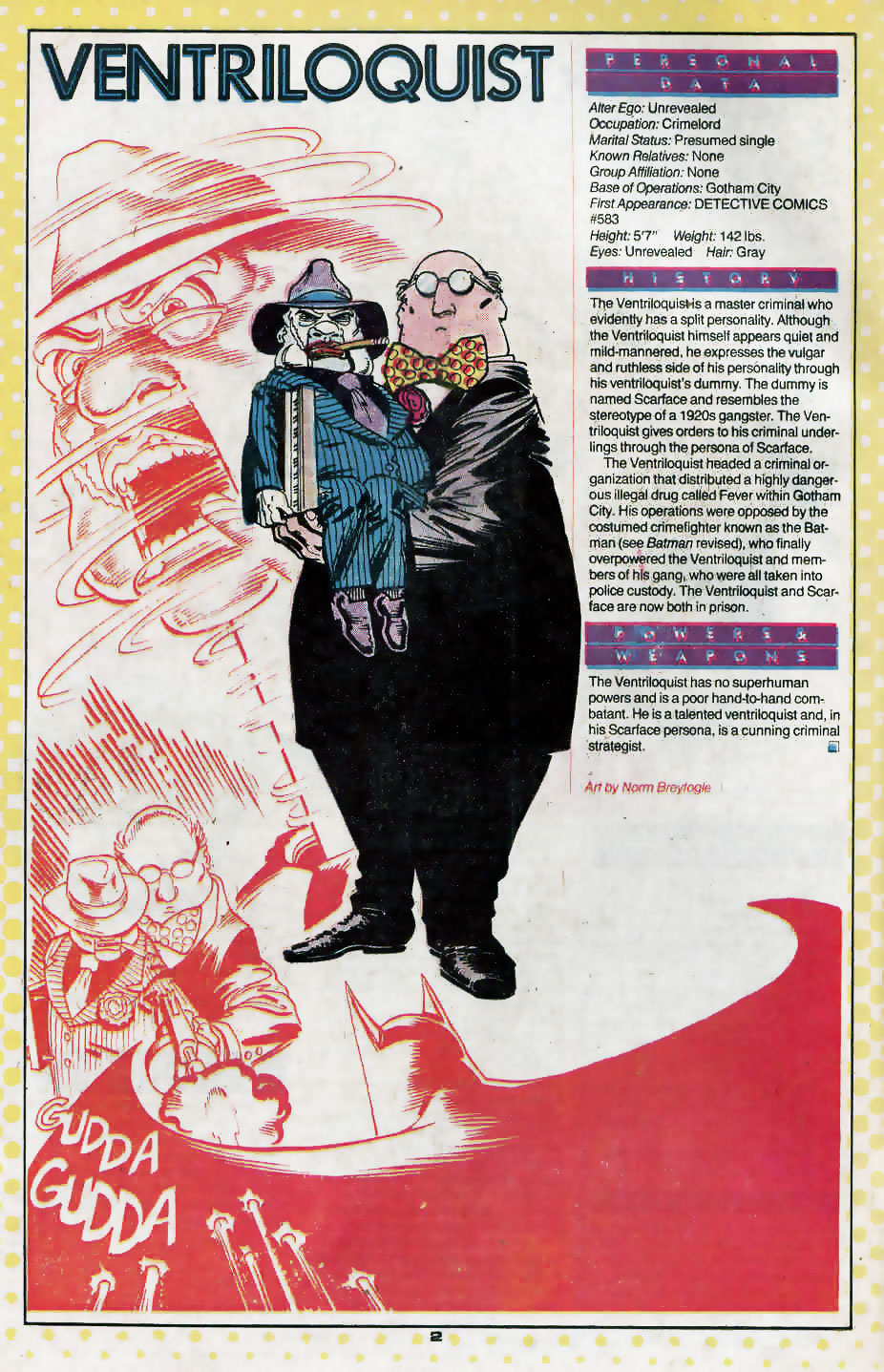 Who's Who Update 88 #4 Ventriloquist by Norm Breyfogle